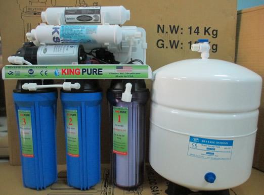 Máy lọc nước RO gia đình  Kingpure- 6 cấp với lõi Nano Silver